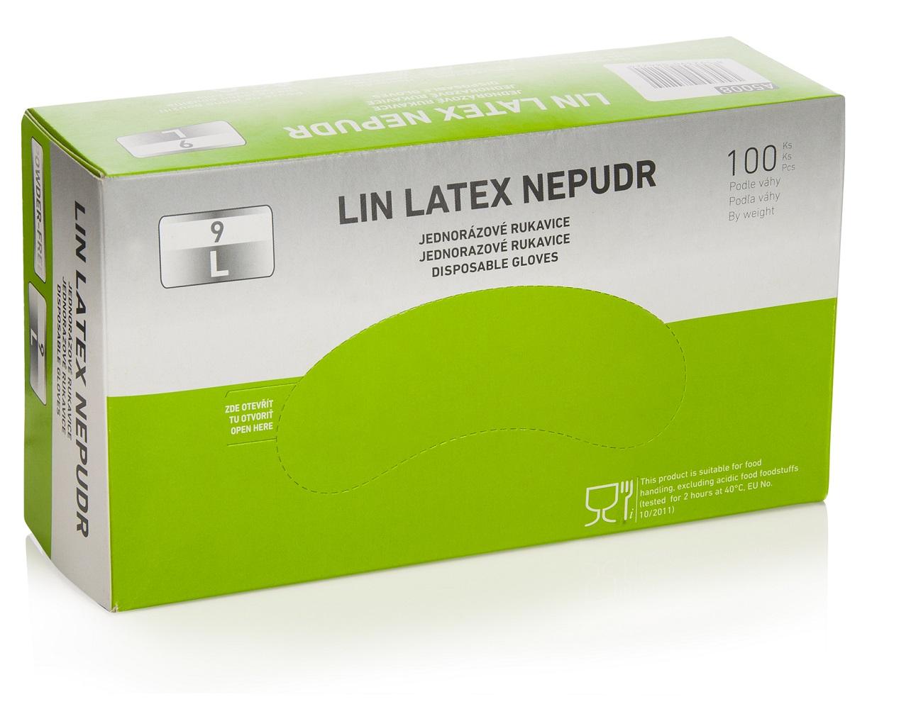Rukavice LIN LATEX NEPUDR S 07