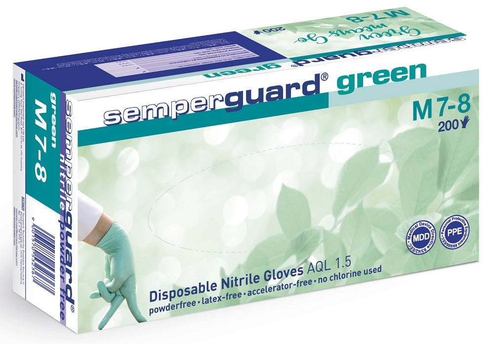 Rukavice SEMPERGUARD GREEN po 10ks 09/PO 10