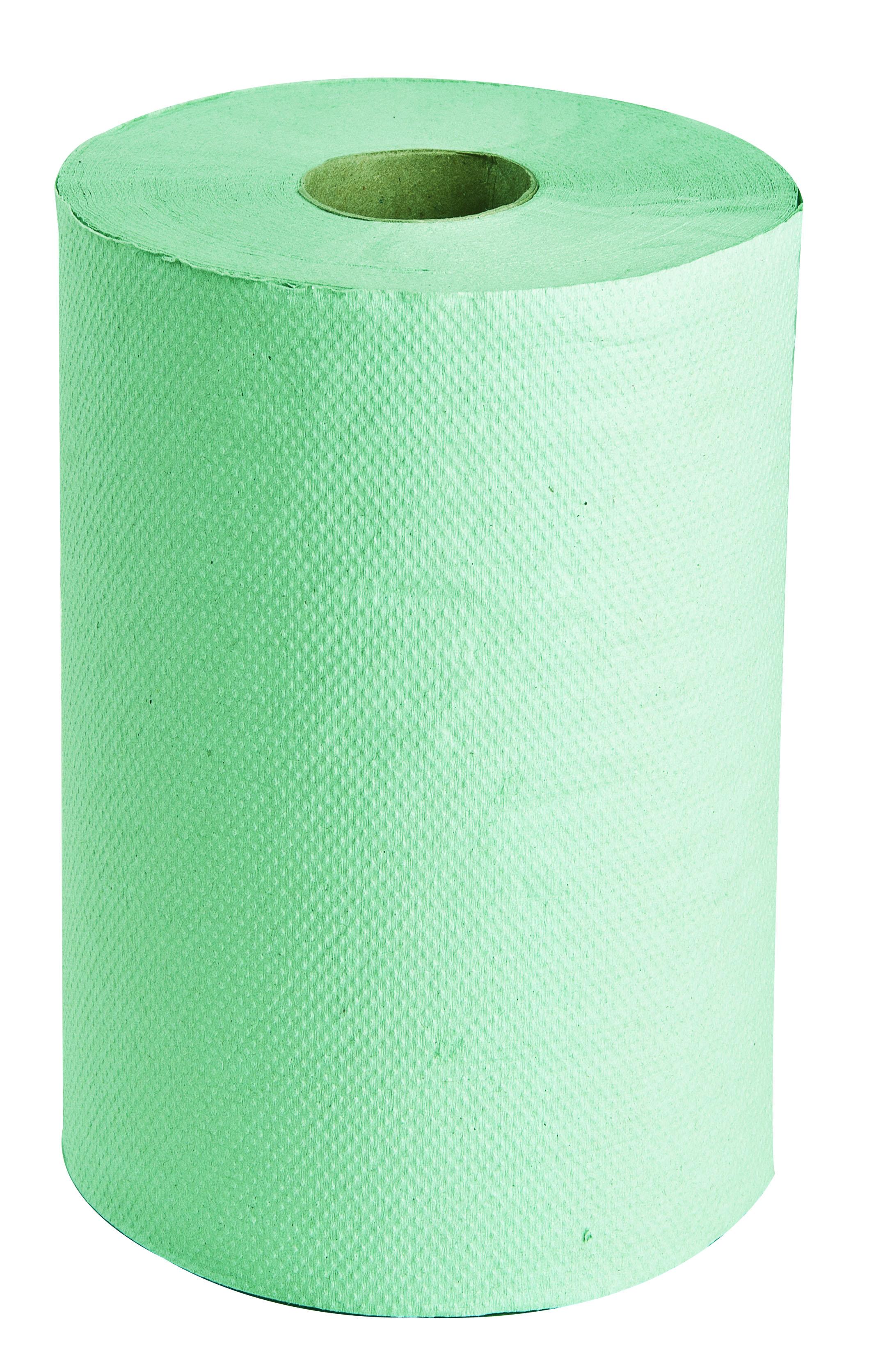 Papírové ručníky-role, šíře 14cm, 1 vrstvé zelené-MIDI