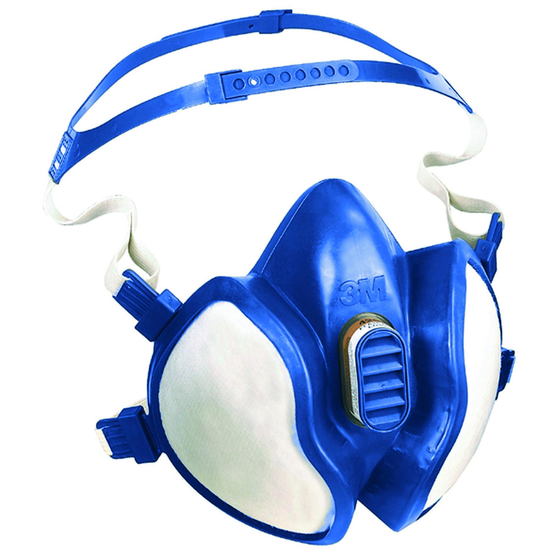 3M™ Bezúdržbová polomaska série s integrovanými filtry FFA2P3RD - organika a částice, 4255+