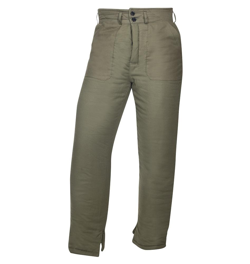 Kalhoty vatované NICOLAS K, zelené DOPRODEJ L
