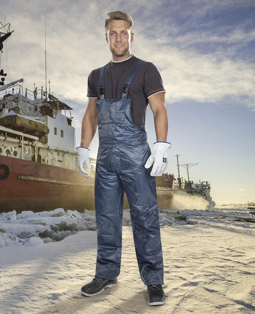 Zimní kalhoty s laclem ARDON®BC 60 K modré – DOPRODEJ L