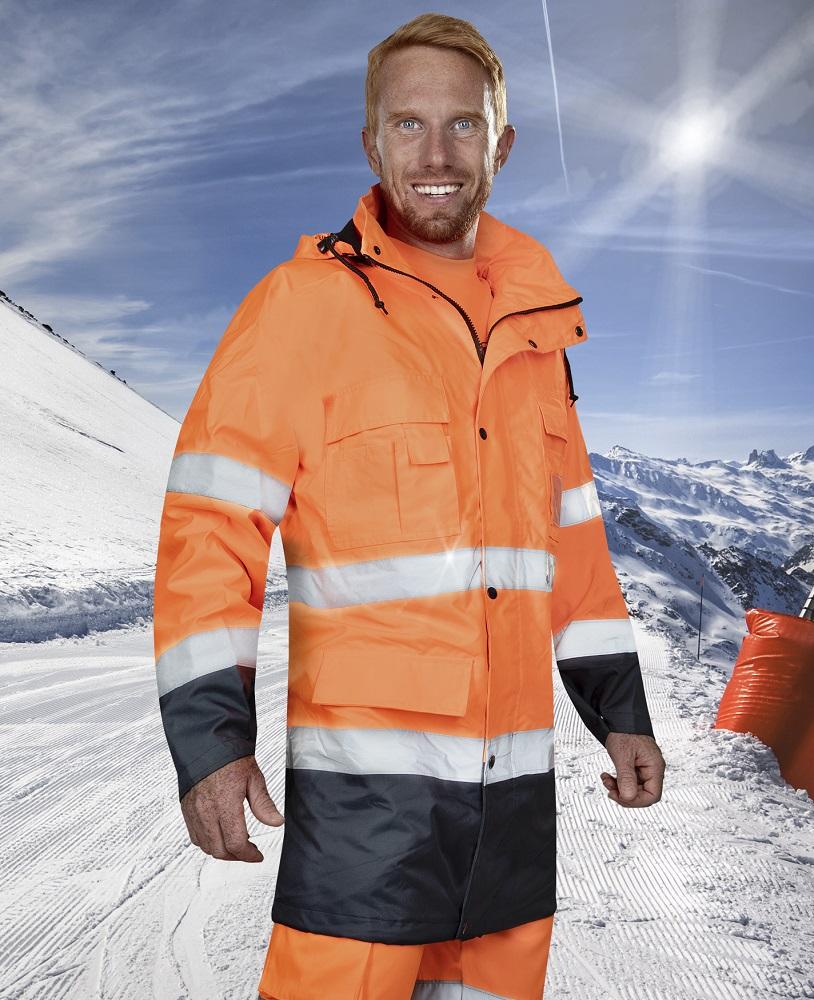 Bunda reflexní MAXWELL oranžovo-modrá DOPRODEJ L