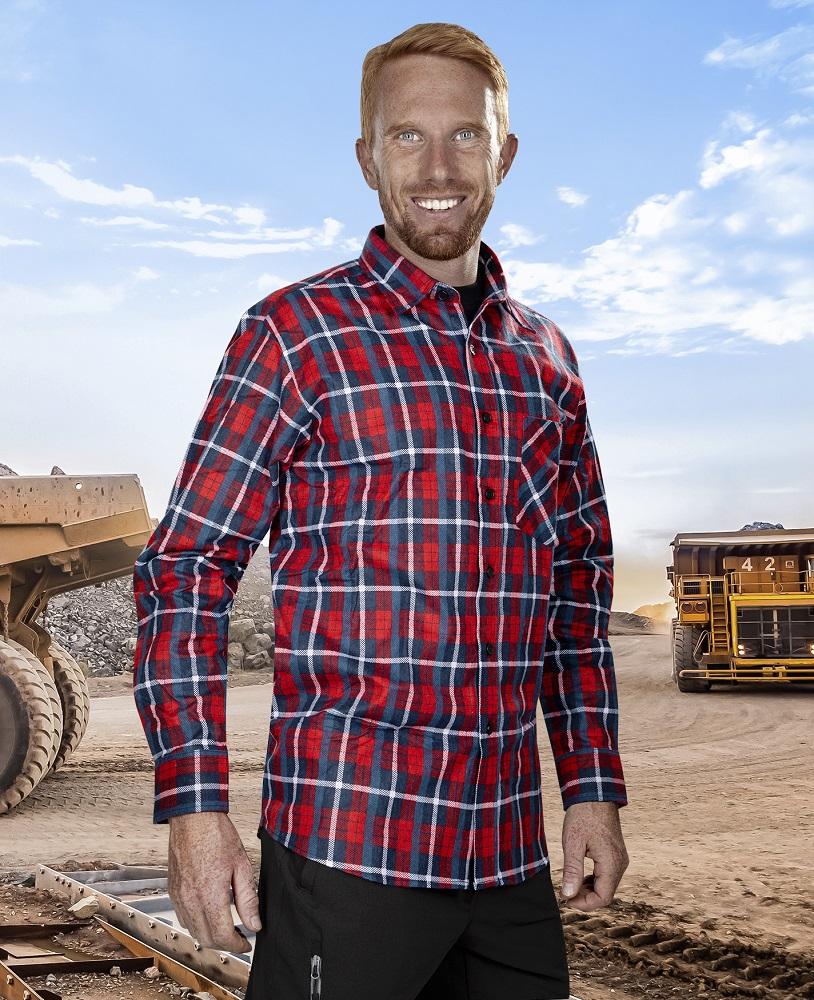 Flanelová košile JONAH, červená 39-40