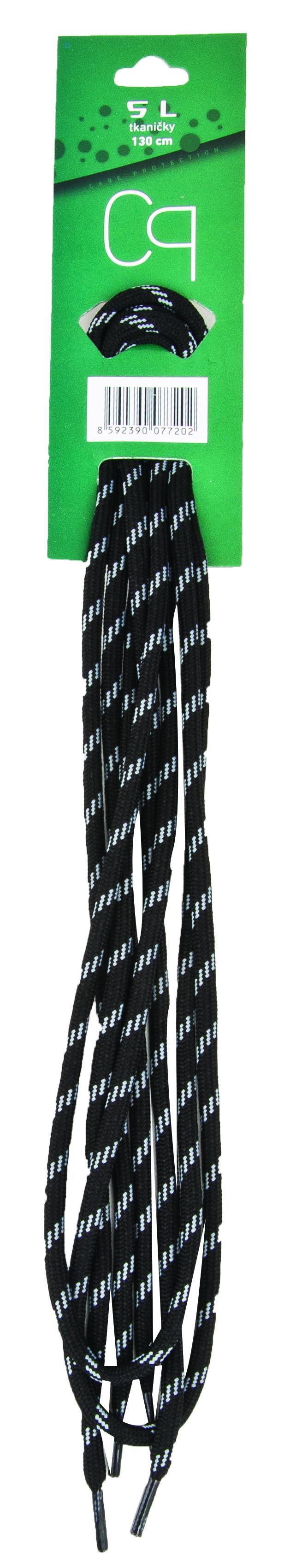 Tkaničky SL černo šedé 110cm