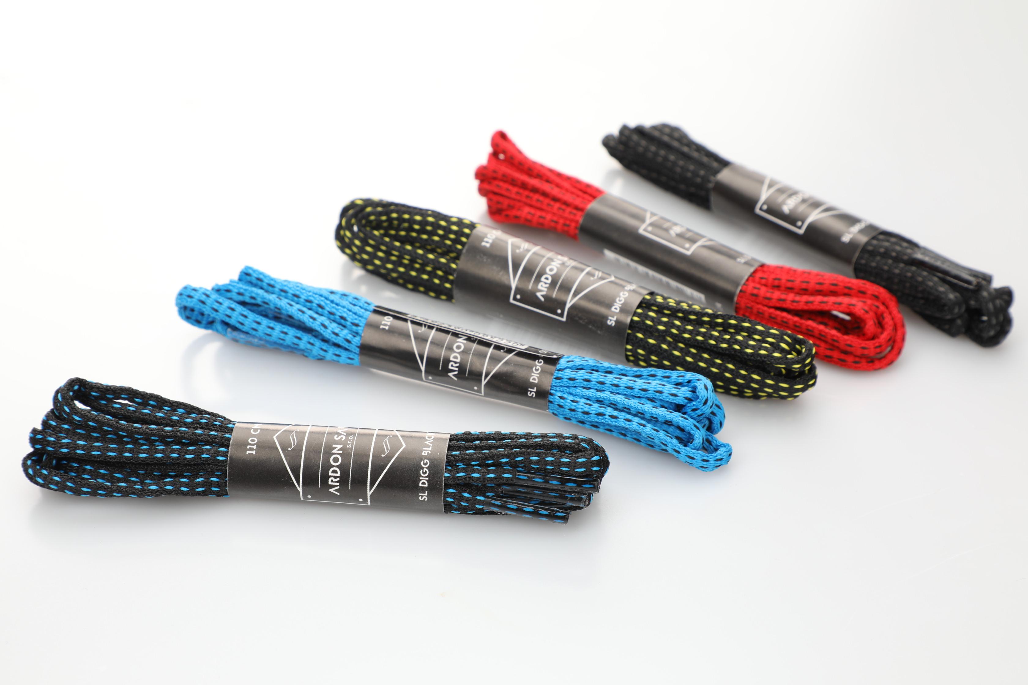 Tkaničky Digger červeno/černé 105