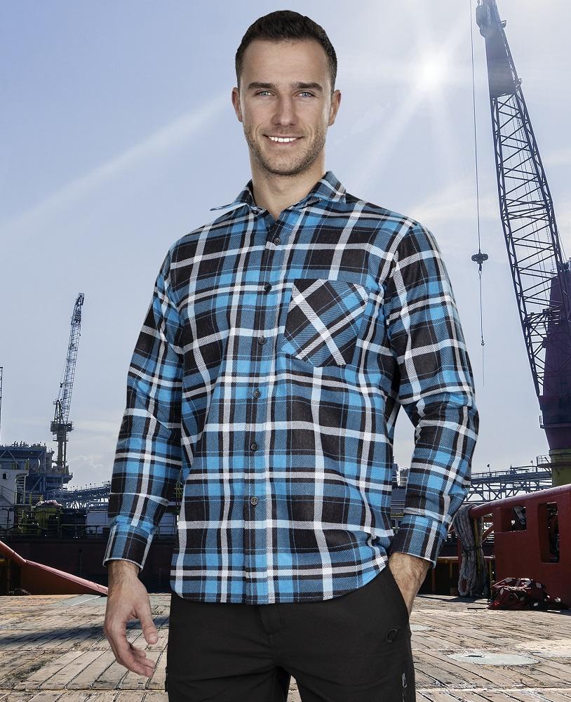Flanelová košile JONAH, modrá 39-40