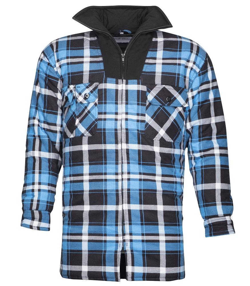 Flanelová košile ZIMNÍ JONAH, modrá L