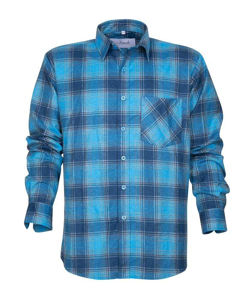 Flanelová košile URBAN, modrá 39-40