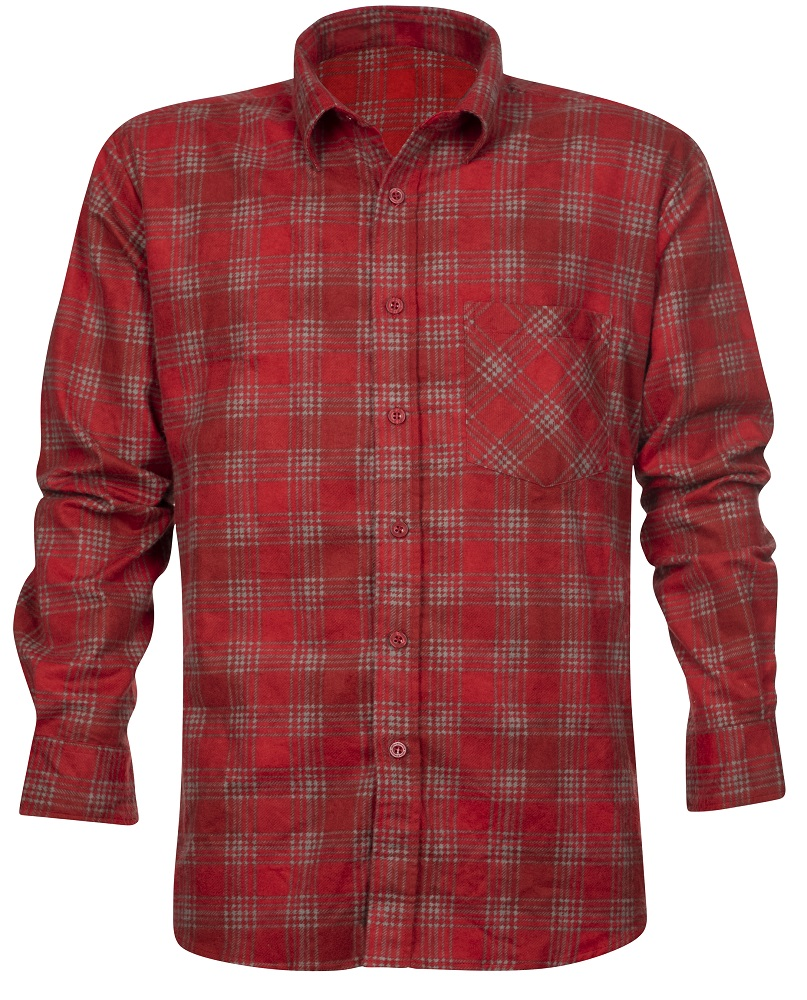 Flanelová košile URBAN, červená 39-40