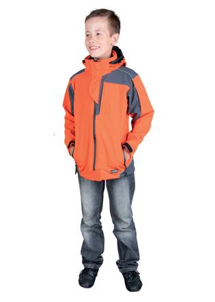 Dětská softsh. bunda ANDY oranžová 122