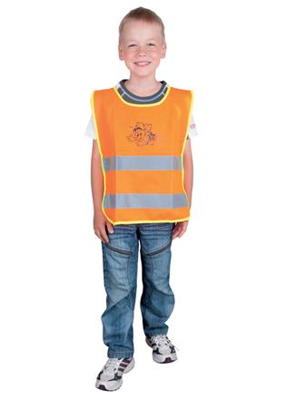 Dětská reflexní vesta ALEX oranžová M