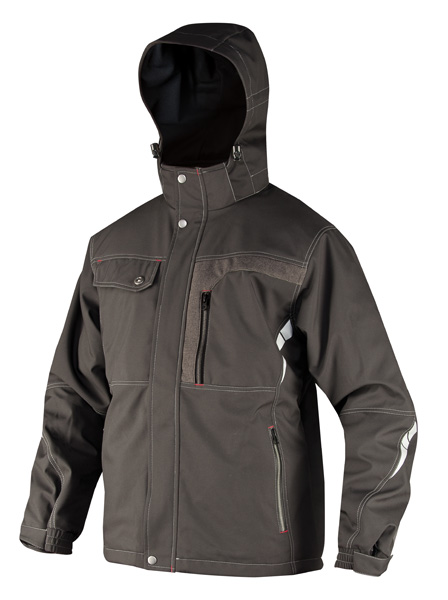 BLAKE zimní soft. bunda černá s refl. L