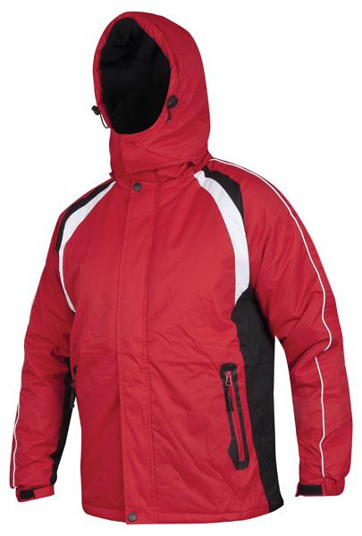 ALVIN páns. zim. bunda červeno-černá L