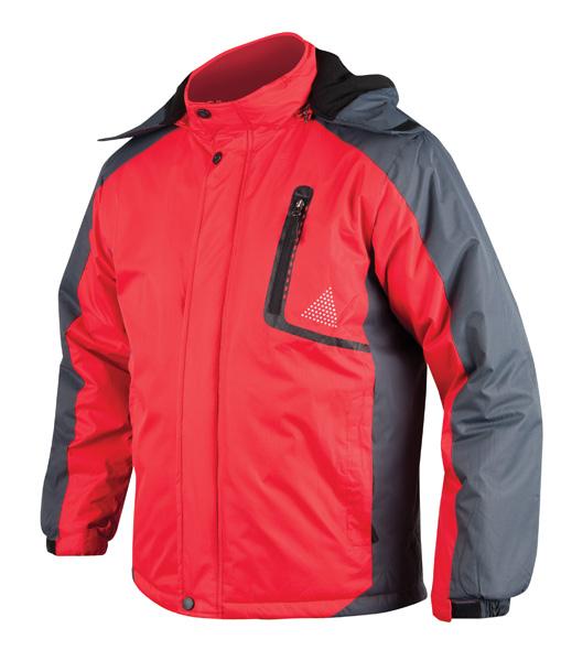 YORK páns. zim. bunda červeno-šedá L