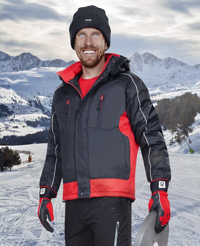 ARPAD páns. zim. bunda černo-červená L