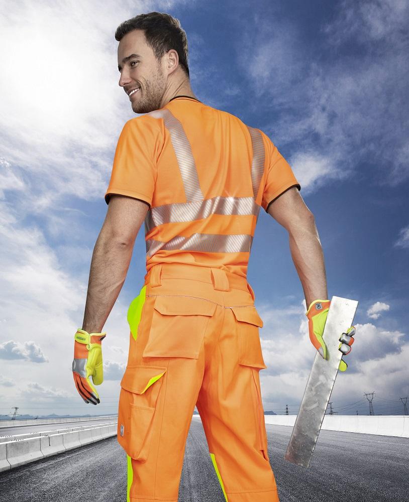 Kalhoty pas SIGNAL oranžovo-žlutá 44
