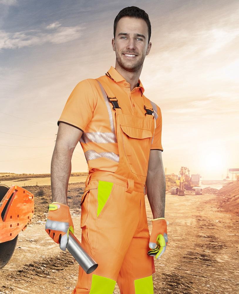 Kalhoty lacl SIGNAL oranžové 44