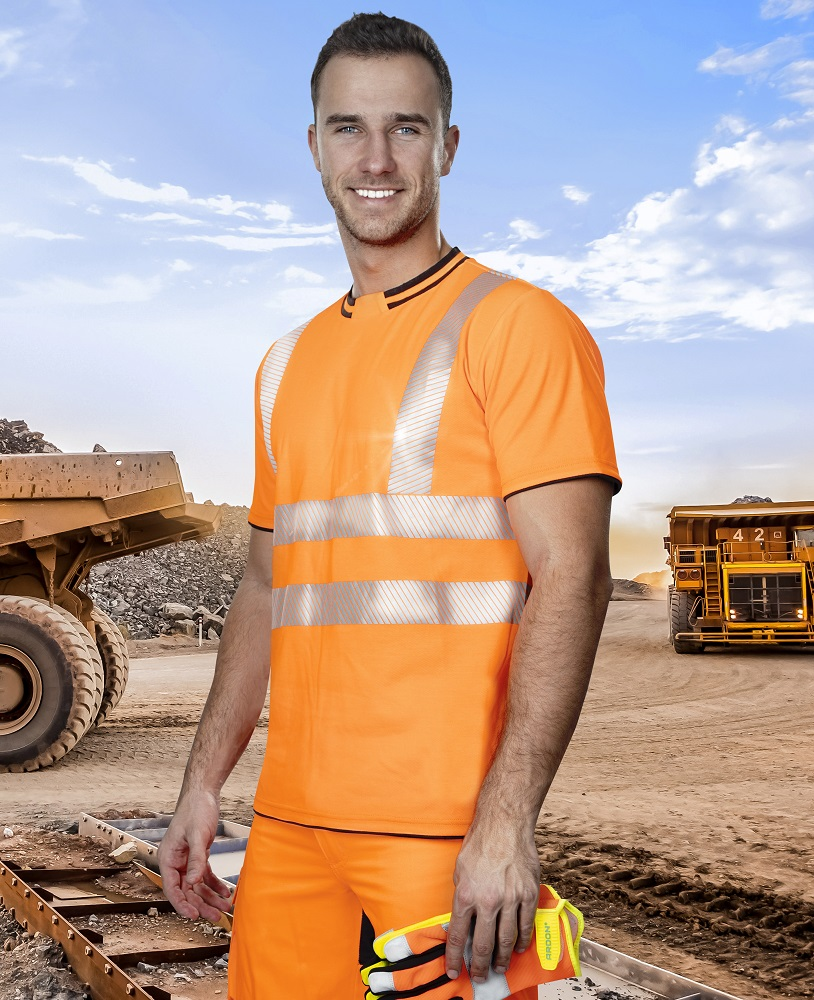 SIGNAL výstražné triko oranžové L