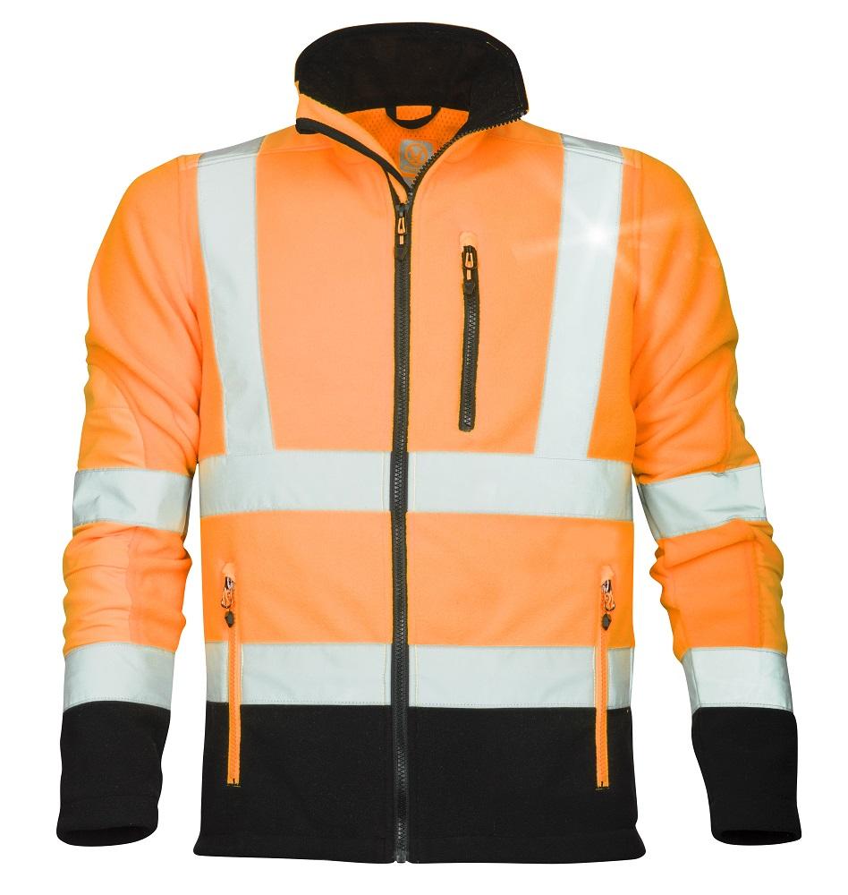 SIGNAL výstražná fleecová mikina oranžová L