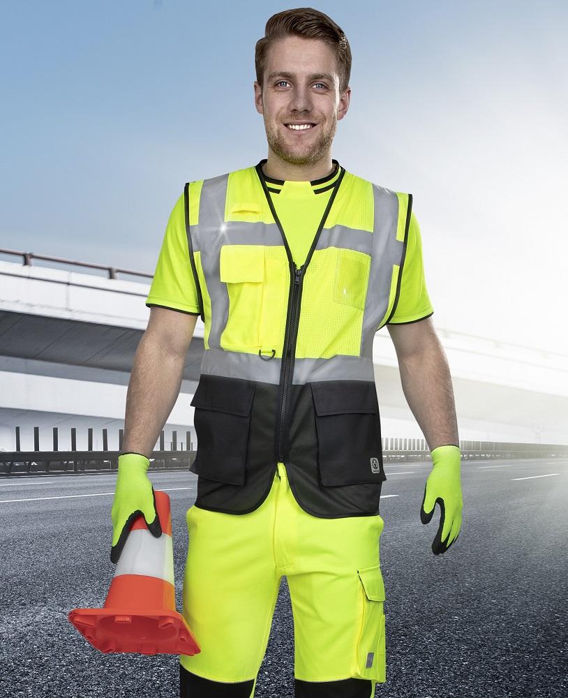 Síťovaná manažerská vesta SIGNAL žlutá L