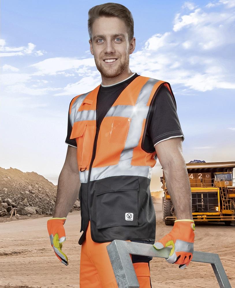 Síťovaná manažerská vesta SIGNAL oranžová L