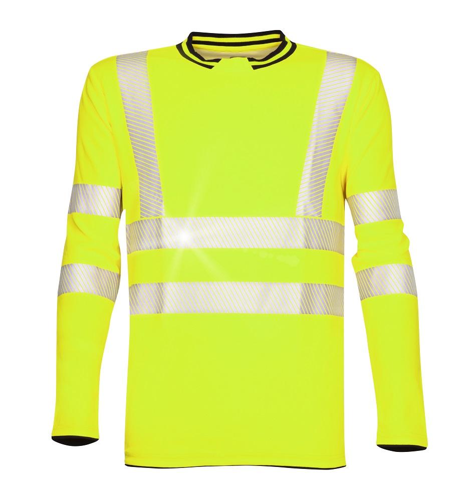 Tričko s dlouhým rukávem SIGNAL žluté L