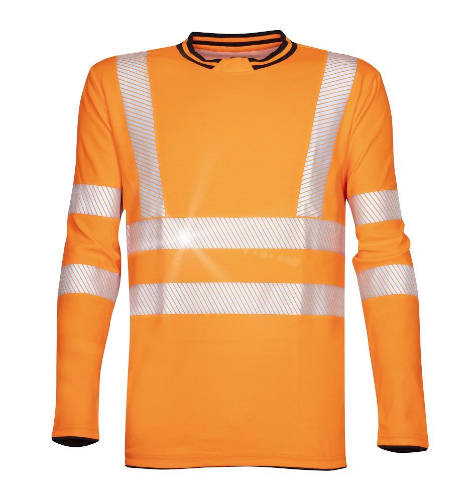 Tričko s dlouhým rukávem SIGNAL oranžové L