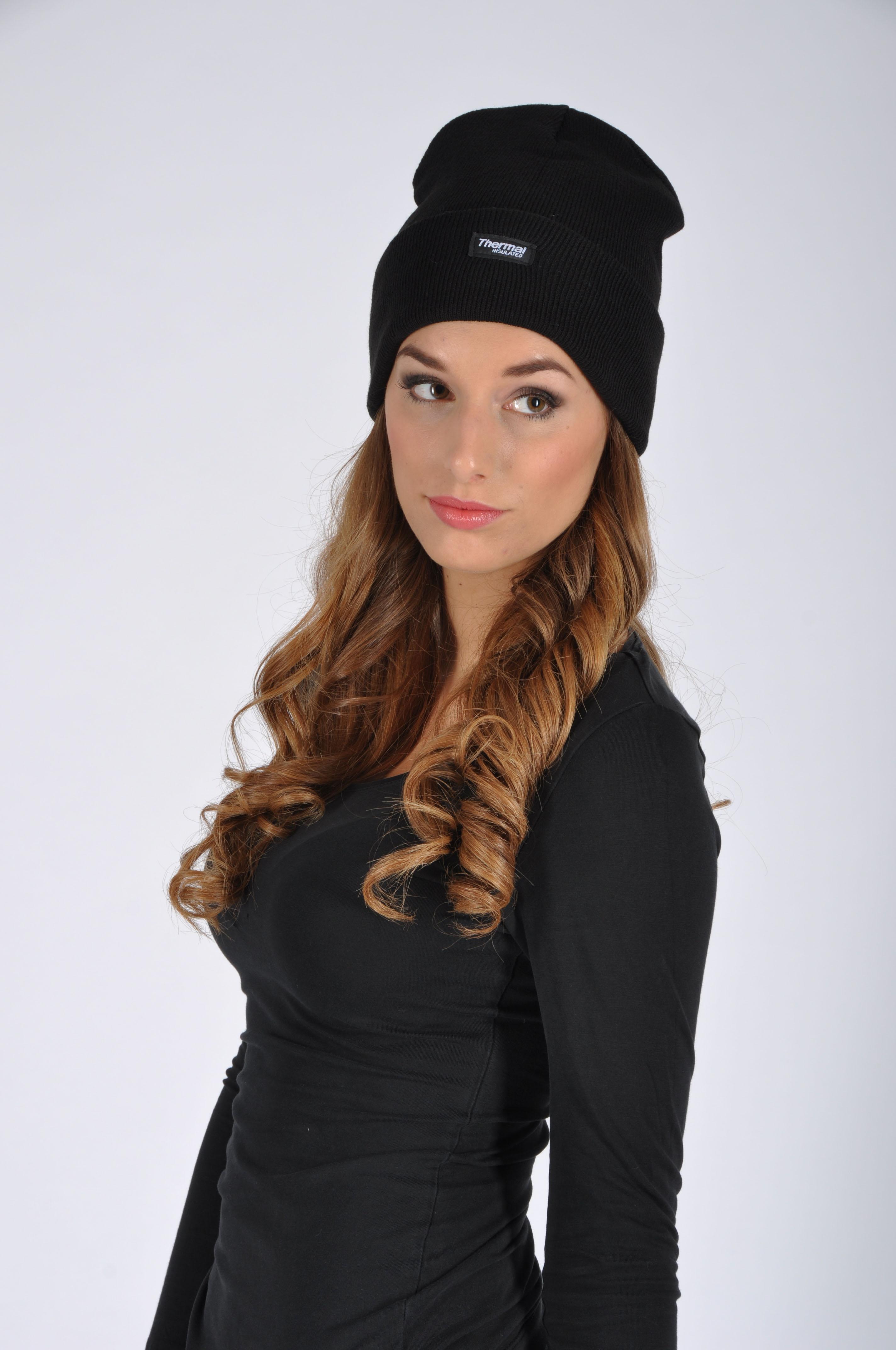 Zimní čepice pletená + fleece OSKAR