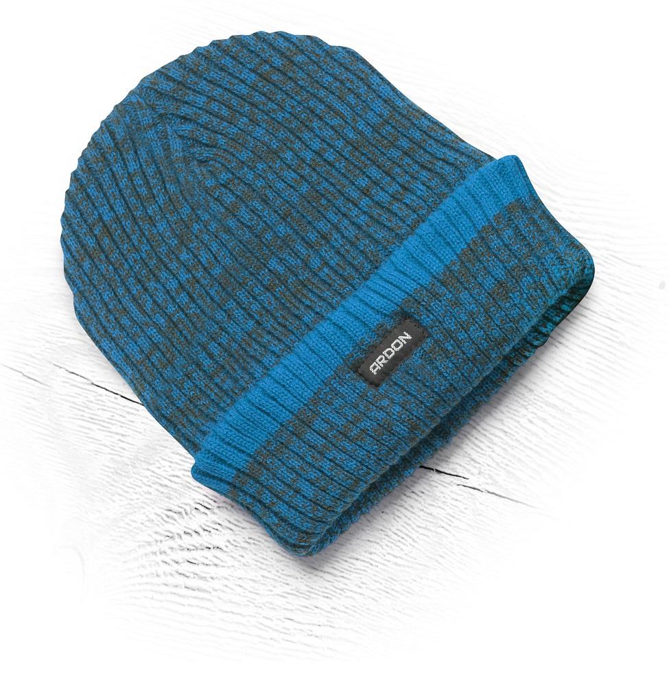 Zimní čepice pletená+fleece Vision Neo modrá