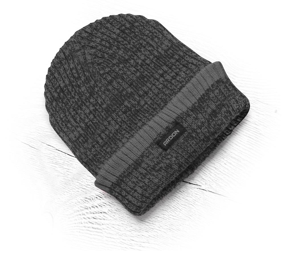 Zimní čepice pletená+fleece Vision Neo černo/šedá