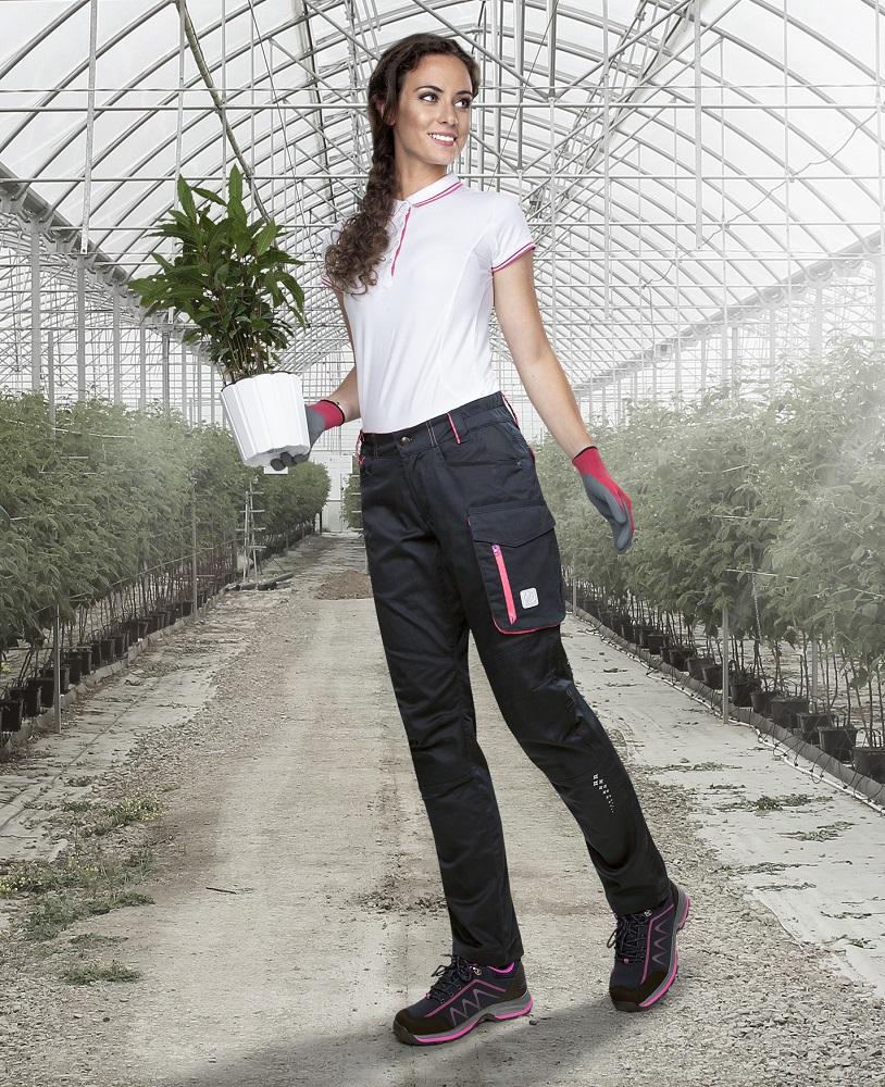 Kalhoty pas FLORET černo-růžová 34