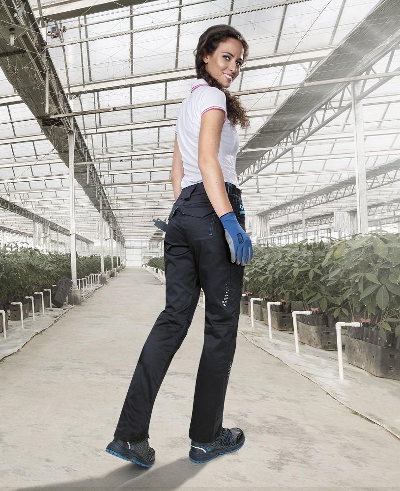 Kalhoty pas FLORET černo-modrá 34