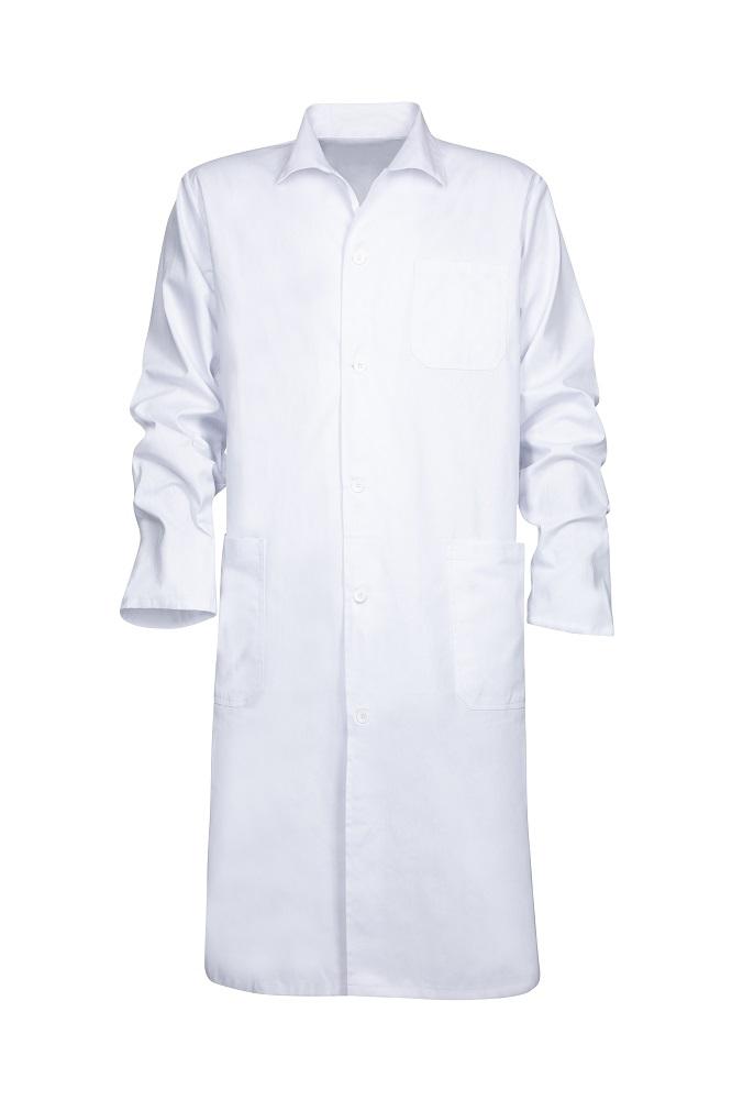 Plášť pánský ERIK dl. rukáv bílý 44