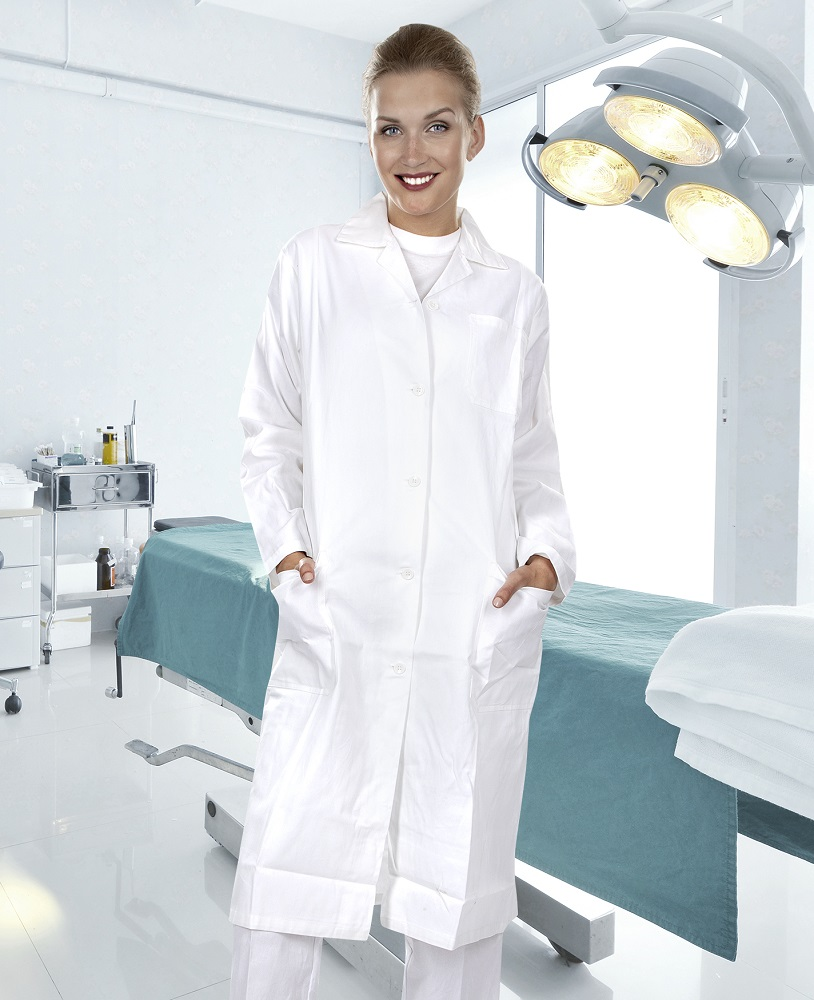 Plášť dámský ELIN dl. rukáv bílý 40