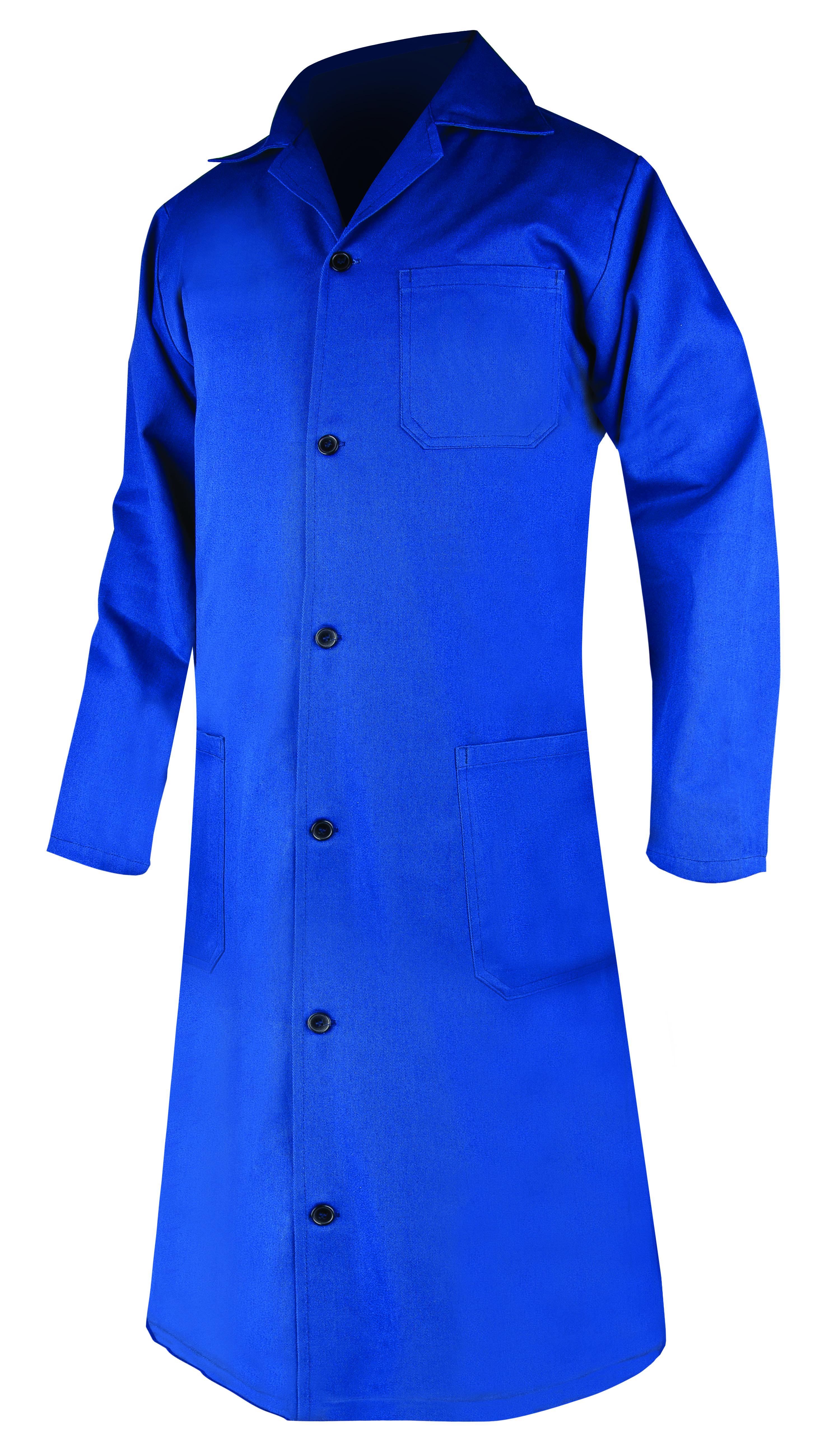 Plášť dámský ELIN dl. rukáv modrý 40