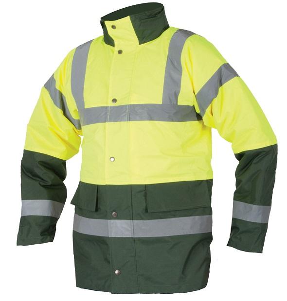Bunda zimní hi-viz zeleno-žlutá S466 L