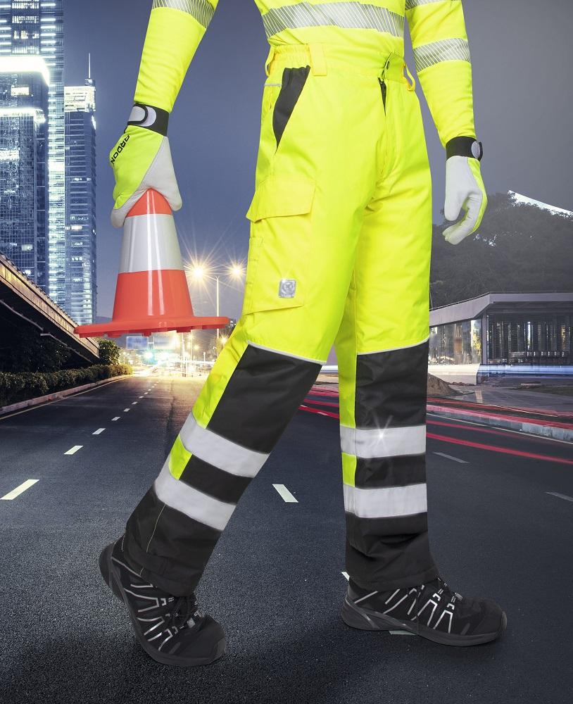 Zimní reflexní kalhoty HOWARD žluté L