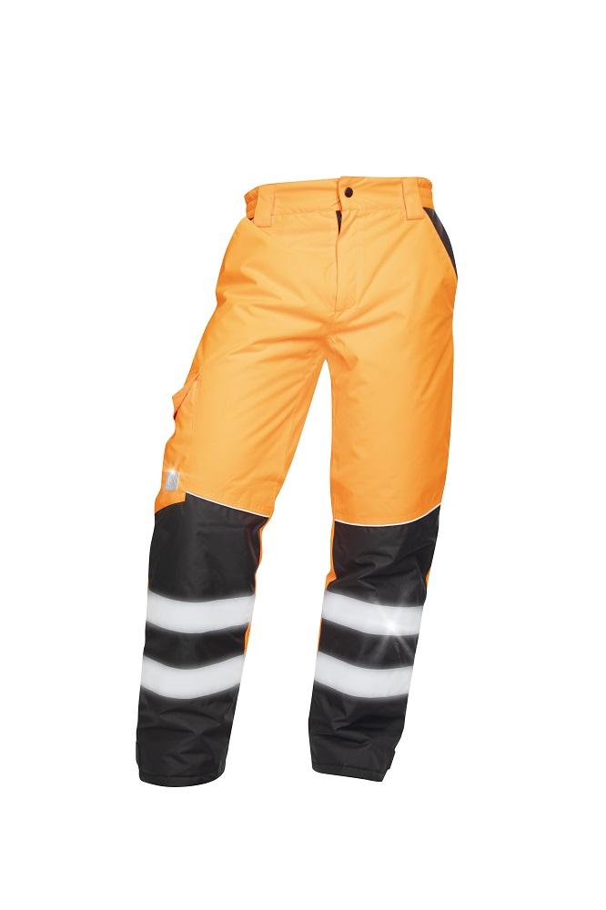 Zimní reflexní kalhoty HOWARD oranžové L