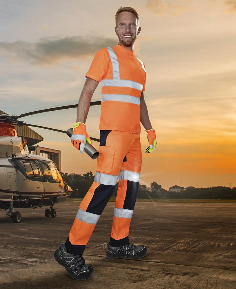 Kalhoty pas PATROL, oranžové
